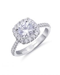 Elegant Fishtail-Set Engagement Ring