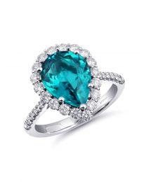 Pear Shaped Indicolite Signature Color Ring