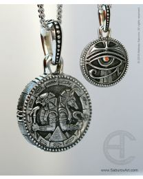 Horus & Anubis pendant