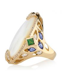 HARMONY RING WITH MOTHER OR PEARL