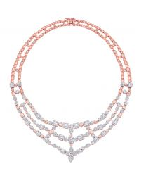 Illusion Multi Cluster 3 Row Statement Choker