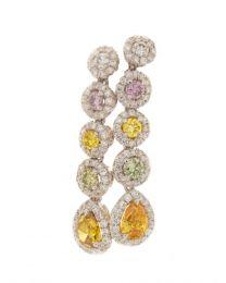 FANCY MULTICOLOR DIAMOND EARRINGS