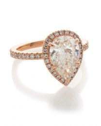 PEAR SHAPE PINK GOLD RING