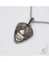 David Bowie portrait pendant