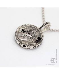 Puzzle Coin pendant
