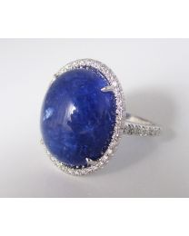 18 Karat White Gold and Diamond Tanzanite Ring