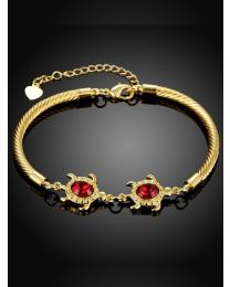 Red zircon enamel  bracelets