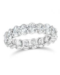 Classic Oval Diamond Eternity Band